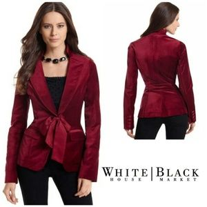 WHBM Ruby Red Velvet Blazer